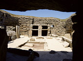 Neolithic village prehistoric house room hearth and dresser from entrance  SKARA BRAE ORKNEY www.doughoughton.com megalithic,bronze,age,small,community,settlement,houses,rural,masonry,stonework,stone,work,drystone,dry,building,homestead,traditional,buildings,inhabit,inhabiting,dwelling,place,dwellings,places,abod