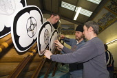 The finishing touches are made to a replica Viking Longship in a workshop in preparation for the Up Helly Aa Fire Festival, Lerwick, Shetland. PIC: DOUG HOUGHTON/SCOTTISH VIEWPOINT  Tel: +44 (0) 131 6... DOUG HOUGHTON/SCOTTISH VIEWPOINT Up,Helly,A,Gulberwick,guizers,disguise,guizing,guising,Shetlanders,Lerwegians,parade,parading,paraded,procession,UpHellyaa,UpHellya,Up-Helly-Aa,Up-Helly-a,viking,squad,norseman,norsemen,norway,history