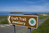The Craft Trail Jewellery tourist roadsign, Birsay Bay, Mainland, Orkney. PIC: DOUG HOUGHTON/SCOTTISH VIEWPOINT  Tel: +44 (0) 131 622 7174  Fax: +44 (0) 131 622 7175  E-Mail : info@scottishviewpoint.c... DOUG HOUGHTON/SCOTTISH VIEWPOINT travel,tourist,tourism,holiday,souvernir,souvenirs,momentos,gift,gifts,shop,road,sign,post,roadsign,signpost,route,tour,touring,visitor,attraction,product,products,northern,isles,scotland,united,kingd