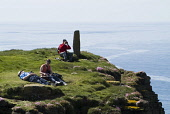 Birdwatching from the seacliff footpath, Marwick Head, Mainland, Orkney. PIC: DOUG HOUGHTON/SCOTTISH VIEWPOINT  Tel: +44 (0) 131 622 7174  Fax: +44 (0) 131 622 7175  E-Mail : info@scottishviewpoint.co... DOUG HOUGHTON/SCOTTISH VIEWPOINT rspb,snh,royal,society,protection,birds,scottish,natural,heritage,bird,sanctuary,conservation,birdwatchers,birdwatcher,watcher,watchers,twitcher,twitchers,twitching,birder,birding,field,trip,ornotholo
