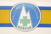 Galloway Mountain Rescue logo on side of a rescue vehicle, Dumfries and Galloway. PIC : ALLAN DEVLIN/SCOTTISH VIEWPOINT  Tel: +44 (0) 131 622 7174  Fax: +44 (0) 131 622 7175  E-Mail : info@scottishvie... ALLAN DEVLIN/SCOTTISH VIEWPOINT galloway,mountain,rescue,logo,hills,hill,mountains,support,help,first,aid,scotland,scottish,travel,search