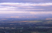 The view from the Eildon Hills looking across the Scottish Borders landscape towards the Cheviot Hills catching the evening light Scotland UK  PIC: ALLAN DEVLIN/SCOTTISH VIEWPOINT Tel: +44 (0) 131 622... autumn,view,scenic,landscape