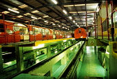 Inside the Strathclyde Partnership for Transport Maintenance Yard, Broomloan Depot,  Govan, Glasgow PIC: IAIN MCLEAN/SCOTTISH VIEWPOINT Tel: +44 (0) 131 622 7174   Fax: +44 (0) 131 622 7175 E-Mail : i... IAIN MCLEAN/SCOTTISH VIEWPOINT train,spt,travel,underground,transport,broomloan,govan