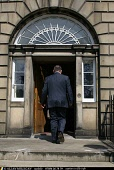 First Minister Alex Salmond MSP arrives as police, gun control campaigners and shooting representatives meet in Bute House Edinburgh the official residence of the First Minister to discuss how to tack... A. MILLIGAN/SCOTTISH VIEWPOINT POLITICS