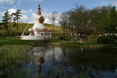The newly-built Stupa in the grounds of the Samye Ling Buddhist monastery and temple complex in Dumfriesshire, south-west Scotland. 29/04/04. PIC: COLIN MCPHERSON/SCOTTISH VIEWPOINT Tel: +44 (0) 131 6... RELIGION