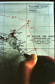 A DETAIL OF A MAP SHOWING AN AREA OF HIRTA DIVIDED UP FOR COUNTING AS PART OF THE SEABIRD 2000 BIRD CENSUS CO-ORDINATED BY JNCC ON A TRIP TO THE ST. KILDA ARCHIPELAGO - A NATURE RESERVE IN THE HANDS O... BIRD,WATCHING,WATCHER,TWITCHERS,TWITCHER,ISLAND,BIRDWATCHING,BIRDWATCHERS