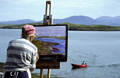 ARTISTS ON TANERA MORE, THE LARGEST OF THE SUMMER ISLES, OFF THE NORTH WEST COAST OF SCOTLAND AT ACHILTIBUIE. IAIN MCLEAN IAIN MCLEAN,SCOTLAND,NORTH WEST SCOTLAND,ACHILTIBUIE,COIGACH,SUMMER ISLES,ARTISTS,ART,SCOTTISH ARTISTS,TANERA MORE,TANNARA MOR,BADENTARBAT BAY