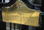 RLS plaque, Heriot Row, Edinburgh.  Plaque commemorating Robert Louis Stevenson outside No. 17 Heriot Row where the engineer Thomas Stevenson lived from 1857 to 1880 and where his son Robert Louis spe... JOHN PRINGLE/SCOTTISHVIEWPOINT SUMMER,SUNNY