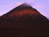 The red glow of a Glen Coe sunrise reflects against the face of Buachaille Etive Mor. PIC: STUART CRAIG/SCOTTISH VIEWPOINT Tel: +44 (0) 131 622 7174   Fax: +44 (0) 131 622 7175 E-Mail : info@scottishviewpoint.com This photograph cannot be used without prior permission from Scottish Viewpoint. STUART CRAIG/SCOTTISH VIEWPOINT ATMOSPHERIC,Sunrise,MUNRO,MOUNTAINS,MOUNTAIN,HIGHLANDS,Glencoe,Buachaille Etive Mor