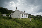 The route from Sannox to Lochranza, around the Cock of Arran. Laggan cottage sits just over half way along the walk and looks out to the Kyles of Bute. PIC: IAIN MCLEAN/SCOTTISH VIEWPOINT Tel: +44 (0)... Arran,WALKING,WALKER,Sannox,Lochranza,Laggan Cottage,Kyles of Bute,IAIN MCLEAN,Cock of Arran