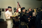 PIPING IN THE HAGGIS,BURN'S NIGHT. PICTURE BY GARY DOAK tel.+44(0)7836 255 728 HAGGIS,BURNS,NIGHT,PIPES,BAGPIPES,PIPING