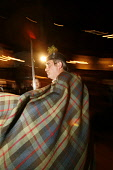 Guests are led into the room at a traditional Burns Night Supper. PIC: GARY DOAK/SCOTTISH VIEWPOINT Tel: +44 (0) 131 622 7174   Fax: +44 (0) 131 622 7175 E-Mail : info@scottishviewpoint.com This photo... PUBLIC, NMR Burns supper,Burns night,haggis,addressing the haggis,Scotland,poet,Robert Burns,Scots,January 25,Highland Dress,tartan,kilt,sporran