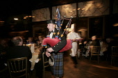 Piping in the haggis at a traditional Burns Night supper.  PIC: GARY DOAK/SCOTTISH VIEWPOINT Tel: +44 (0) 131 622 7174   Fax: +44 (0) 131 622 7175 E-Mail : info@scottishviewpoint.com This photograph c... PUBLIC, NMR Scotland,poet,Robert Burns,Scots,January 25,bagpipes,piper,tartan,kilt,chef