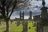 St Andrews, Cathedral ruins, St Rules Tower, Fife,  Scotland, August,  2008 PIC: D BARNES/SCOTTISH VIEWPOINT  Tel: +44 (0) 131 622 7174  Fax: +44 (0) 131 622 7175  E-Mail : info@scottishviewpoint.com... Public, NMR St Andrews,Cathedral,ruins,St Rules,Tower,church,christian,monument,saint,coast,University,Golf,Tranquil,Scottish,landscape,famed,renowned,tradition,famous,UK,United Kingdom,Travel,heritage,tourist,At