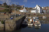Crail Harbour, Neuk of Fife,  Fife,  Scotland, August,  2008 PIC: D BARNES/SCOTTISH VIEWPOINT  Tel: +44 (0) 131 622 7174  Fax: +44 (0) 131 622 7175  E-Mail : info@scottishviewpoint.com  This photograp... Public, NMR STITCHED,Crail,Harbour,Neuk,of,Fife,Boats,sunny,reflections,Coast,Coastal,quaint,Tranquil,Scottish,landscape,famed,renowned,tradition,famous,UK,United Kingdom,Travel,heritage,tourist,Attraction,Touris