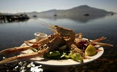 Inverie,  Knoydart and the  Old Forge Pub with a dish of Langoustines PIC:ALLAN MILLIGAN/SCOTTISH VIEWPOINT Tel: +44 (0) 131 622 7174   Fax: +44 (0) 131 622 7175 E-Mail : info@scottishviewpoint.com Th... FOOD,SEAFOOD