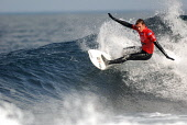 Jean Sebastien Estienne participating in the Highland Open Surfing competition at Brimms Ness near Thurso, Caithness District, Highlands, Scotland. Pic: Chris Laurens / Scottish Viewpoint Tel: +44 (0)... Public, NMR free,surfing,water,surf,wave,scotland,sea,sport,professional,compete,event,dramatic,extreme,surfer