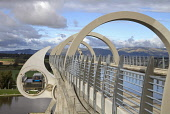 Falkirk Wheel CAMELON STIRLINGSHIRE Canal revolving boat lift boating basin Forth and Clyde and Union canals  Pic: Doug Houghton / Scottish Viewpoint Tel: +44 (0) 131 622 7174 Fax: +44 (0) 131 622 717... Public falkirk,wheel,canal,lock,boat,lift,join,water,link,scotland,scottish,forth,clyde,linking,waterway,inland,connecting,millenium,scheme,enterprise,european,union,revolving,tourism,pastime,outdoors,holida