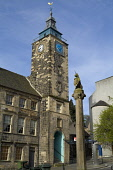 STIRLING STIRLINGSHIRE Unicorn statue Mercat cross and old Tolbooth clock tower  Pic: Doug Houghton / Scottish Viewpoint Tel: +44 (0) 131 622 7174 Fax: +44 (0) 131 622 7175 E-Mail: info@scottishviewpo... Public stirling,unicorn,statue,mercat,cross,old,tolbooth,scotland,scottish,tollbooth,toll,booth,house,history,offices,architecture,clock,tower,spire,town,stone,building,time,timekeeping,timepiece,piece,struc
