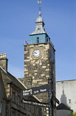 STIRLING STIRLINGSHIRE Tolbooth clock tower  Pic: Doug Houghton / Scottish Viewpoint Tel: +44 (0) 131 622 7174 Fax: +44 (0) 131 622 7175 E-Mail: info@scottishviewpoint.com Web: www.scottishviewpoint.c... Public stirlingshire,stirling,scotland,scottish,town,historic,historical,offices,architecture,clock,tower,spire,house,stone,building,time,timekeeping,timepiece,piece,structure,history,heritage,council,facade