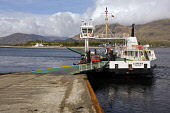 Corran Ferry at Corran Narrows South of Fort William, Lochaber, Highland.  PIC: ALLAN COUTTS/SCOTTISH VIEWPOINT  Tel: +44 (0) 131 622 7174  Fax: +44 (0) 131 622 7175  E-Mail: info@scottishviewpoint.co... Public Corran,Ferry,Boat,Navigate,Transport,Transportation,Carry,Car,Automobile,Auto,Vehicle,Passenger,People,Across,Cross,Water,Lake,Loch,Linnhe,Ardgour,Island,Nether,Lochaber,Sgurr,na,h,Eanchainne,Highland