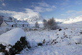 Buchaille Etive Mor and Black Rock cottage in winter, Highlands PIC: Scott Whitelaw / Scottish Viewpoint TEL: +44 (0) 131 622 7174 FAX: +44 (0) 131 622 7175 E-MAIL: info@scottishviewpoint.com WEB: www... Public, NMR winter,snow,munro,mountain,mountains