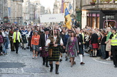 Clan Parade in Edinburgh's Royal Mile - The Gathering 2009  PIC: Andrew Wilson / Scottish Viewpoint TEL: +44 (0) 131 622 7174 FAX: +44 (0) 131 622 7175 E-MAIL: info@scottishviewpoint.com WEB: www.scot... Public, NMR 25th July 2009,Clans,Edinburgh castle,Holyrood park,Lawnmarket,Prince Charles,clan parade,royal mile,the Gathering 2009,tartan,pipes,bag,bagpipes,kilt