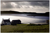 DEMLANE MUSSEL SITE IN THE CLEAR COLD WATERS AND DRAMATIC LANDSCAPE OF VAILA VOE ON THE WEST COAST OF THE SHETLANDS.  PIC: Paul Dodds / Scottish Viewpoint TEL: +44 (0) 131 622 7174 FAX: +44 (0) 131 62... Public, NMR SEA FOOD,SEAFOOD,ATMOSPHERIC,FARM,COAST,COASTAL,FARMING,ISLE,ISLAND,FISH