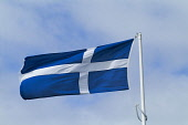 FLAG SHETLAND White cross on blue background Shetland flag official standard  Pic: Doug Houghton / Scottish Viewpoint Tel: 0044 (0) 131 622 7174 Fax: 0044 (0) 131 622 7175 E-Mail: info@scottishviewpoi... Public, NMR shetland,flag,official,standard,flying,flagpole,pole,blue,icon,emblem,symbol,history,historical,county,raised,patriotic,patriotism,loyalty,identity,mast,staff,poles,flagpoles,flagwaving,waving,provinc