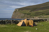 Rackwick Bay HOY ORKNEY Camping tent in Rackwick Bay  Pic: Doug Houghton / Scottish Viewpoint Tel: 0044 (0) 131 622 7174 Fax: 0044 (0) 131 622 7175 E-Mail: info@scottishviewpoint.com Web: www.scottish... Public, NMR orkney,hoy,rackwick,tent,camp,site,camping,campsite,canvas,tourism,tenting,uk,gb,leisure,recreation,outdoors,open,outside,country,camps,tents,equipment,holiday,vacations,sites,united,kingdom,great,bri