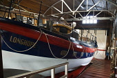 Brims HOY ORKNEY Longhope Lifeboat in museum shed interior  Pic: Doug Houghton / Scottish Viewpoint Tel: 0044 (0) 131 622 7174 Fax: 0044 (0) 131 622 7175 E-Mail: info@scottishviewpoint.com Web: www.sc... Public, NMR orkney,hoy,brims,lifeboat,shed,building,interior,rnli,royal,national,institution,museum,exhibit,show,uk,britain,british,gb,indoor,inside,hut,shack,shelter,store,heritage,tradition,culture,boat,sea,ves