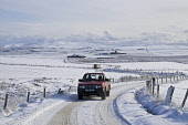ROADS TRANSPORT Farmers truck on icy snow roads  Pic: Doug Houghton / Scottish Viewpoint Tel: 0044 (0) 131 622 7174 Fax: 0044 (0) 131 622 7175 E-Mail: info@scottishviewpoint.com Web: www.scottishviewp... Public, NMR transport,roads,driving,snowy,countrylane,weather,icy,chilly,freezing,snow,snowscape,scape,white,cover,agriculture,rural,economy,rustic,farming,vehicle,truck,motor,automobile,wintertime,wintery,winter