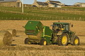 HAVESTING FARMING John Deere tractor baler baling field harvesting hay bales making machine  Pic: Doug Houghton / Scottish Viewpoint Tel: 0044 (0) 131 622 7174 Fax: 0044 (0) 131 622 7175 E-Mail: info@... Public, NMR john,deere,tractor,baling,machine,baler,havesting,maker,field,harvesting,hay,bales,making,farming,haymaking,bale,harvest,haymaker,agricultural,balers,haymakers,makers,farm,machinery,agriculture,fields