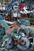 ropes and nets on mallaig harbour  Picture credit: Mark Hicken / Scottish Viewpoint Tel: +44 (0) 131 622 7174 Fax: +44 (0) 131 622 7175 E-Mail: info@scottishviewpoint.com Web: www.scottishviewpoint.co... Public ropes,nets,marine,harbour,mallaig,scotland,scottish,boats,sea,dockside,colourful,assortment,west coast,quay