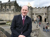 John Swinney MSP Cabinet Secretary For Finance and Sustainable Growth visits Stirling Castle after in-depth tour  and meeting with Historic Scotland's Head of Visitor Services and Business Development... Public, NMR politics