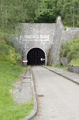 The access tunnel portal to Culligran Hydro-electric Power Station, Glen Strathfarrar, Scottish Highlands.  Constructed as part of the Strathfarrar project between 1958 and 1962  Pic: Alan Gordon / Sc... Public Scotland,Scottish,Highlands,hydro,electric,power,station,underground,Strathfarrar,Culligran