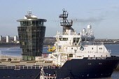Oil Support vessel in Aberdeen Harbour, Scotland Picture Credit: Jason Baxter / Scottish ViewpointTel: +44 (0) 131 622 7174Fax: +44 (0) 131 622 7175E-Mail: info@scottishviewpoint.comWeb: www.scottishv... Public, NMR oil,aberdeen,boat,support,ship,vessel,harbour,harbor,aberdeen scotland,city,north-east,coast,marine,sea,dock,docks