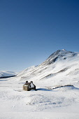 A deserted cottage in Glen Cluine.  Glen Cluine carries the Clunie Water flowing north from the Cairnwell Pass to join the upper River Dee at Braemar. Braemar is a popular Highland resort which enjoys... Public, NMR snow,winter,ice,frozen,skiing,sport,walking,mountains,cairngorms,hills,wildlife,deer,estate,Braemar,Glensee,Cluine,glen,pass,cottage,deserted,ruin,farmhouse,sheep,farming,road,river