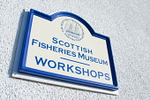 Fisheries Museum in Anstruther, Fife - Scotland  Picture Credit: Jason Baxter / Scottish Viewpoint Tel: +44 (0) 131 622 7174 Fax: +44 (0) 131 622 7175 E-Mail: info@scottishviewpoint.com Web: www.scott... Public, NMR Fisheries,Museum,fishing,sign,signage,fife,visit,attraction,workshop,boatyard,historical