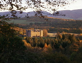 Drumlanrig Castle in a autumn landscape catching the morning sunshine with Lowther Hills behind Scotland UK  Picture Credit: Allan Devlin / Scottish Viewpoint Tel: +44 (0) 131 622 7174 Fax: +44 (0) 13... Public, NMR drumlanrig,castle,autumn,autumnal,landscape,tree,morning,sunshine,lowther,hills,nithsdale,scotland,scottish,uk,scenic,atmospheric,viewpoint,view