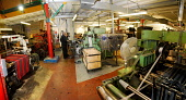 The Geoffrey Tailor Old Town Weaving Mill, Castlehill in the city centre of Edinburgh. Picture Credit: Chris Robson / Scottish Viewpoint Tel: +44 (0) 131 622 7174 Fax: +44 (0) 131 622 7175 E-Mail: inf... Public, NMR interior,machinery,loom,manufacture,industry,tartan,material,threads,kilt,clothing,clothes