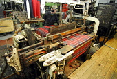 The Geoffrey Tailor Old Town Weaving Mill, Castlehill in the city centre of Edinburgh. Picture Credit: Chris Robson / Scottish Viewpoint Tel: +44 (0) 131 622 7174 Fax: +44 (0) 131 622 7175 E-Mail: inf... Public interior,machinery,loom,manufacture,industry,tartan,material,threads,kilt,clothing,clothes