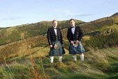 Traditional Highland dress. Picture Credit: Chris Robson / Scottish Viewpoint Tel: +44 (0) 131 622 7174 Fax: +44 (0) 131 622 7175 E-Mail: info@scottishviewpoint.com Web: www.scottishviewpoint.com This... Public, MR tartan,material,kilt,sporran,sporrans,prince charlie jacket,pin,scotsman,clothing,clothes