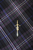 A kilt pin. Picture Credit: Chris Robson / Scottish Viewpoint Tel: +44 (0) 131 622 7174 Fax: +44 (0) 131 622 7175 E-Mail: info@scottishviewpoint.com Web: www.scottishviewpoint.com This picture cannot... Public interior,tartan,bowdens,silver,clothing,clothes