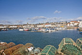 Fishing nets on the pier at Anstruther Fife Scotland  Picture Credit: D. G. Farquhar / Scottish Viewpoint Tel: +44 (0) 131 622 7174 Fax: +44 (0) 131 622 7175 E-Mail: info@scottishviewpoint.com Web: ww... Public East Neuk,Fishing,Harbour,Kingdom of Fife,Lobster,Scotland,Shellfish,Anstruther,Anstruther Harbour,Fife,Lobster pots,sunny,spring