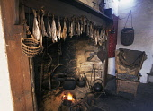 Farm museum CORRIGALL ORKNEY Dried fish above Farmhouse fireplace and Orkney chair  Picture Credit: Doug Houghton / Scottish Viewpoint Tel: +44 (0) 131 622 7174   Fax: +44 (0) 131 622 7175 E-Mail : in... Public orkney,chair,farmhouse,fireplace,dried,fish,food,scotland,scottish,farming,history,farm,house,fire,drying,produce,preserve,homestead,dwelling,place,abode,inside,tradition,traditional,rural,agricultura