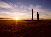 Stenness Standing Stones STENNESS ORKNEY Neolithic standing stones henge dusk sunset Loch of Stenness  Picture Credit: Doug Houghton / Scottish Viewpoint Tel: +44 (0) 131 622 7174   Fax: +44 (0) 131 6... Public orkney,stenness,standing,stones,sunset,dusk,henge,scotland,scottish,lake,water,sealoch,warm,golden,colour,colors,sky,sun,set,sunsetting,down,sundown,nightfall,twilight,eventide,half,evening,day,end,me
