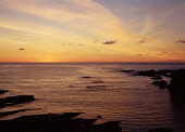 Sunset BIRSAY ORKNEY Midsummer sunset from Orkney north coast after sun has set  Picture Credit: Doug Houghton / Scottish Viewpoint Tel: +44 (0) 131 622 7174   Fax: +44 (0) 131 622 7175 E-Mail : info@... Public orkney,birsay,sunset,midsummer,sun,set,dusk,scotland,scottish,rocks,rocky,red,orange,yellow,purple,clouds,sky,clear,fresh,isolation,quiet,tranquil,peaceful,peace,serene,serenity,horizon,coast,coastal,