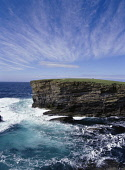 Brough of Bigging YESNABY ORKNEY Sea waves rough seas blue sky cliffs coast  Picture Credit: Doug Houghton / Scottish Viewpoint Tel: +44 (0) 131 622 7174   Fax: +44 (0) 131 622 7175 E-Mail : info@scot... Public orkney,yesnaby,windy,sea,waves,rough,cliffs,coast,scotland,scottish,white,foaming,foam,clouds,whisk,whispy,stormy,coastline,coastal,littoral,headland,peninsular,peninsula,isolation,cliff,rocks,choppy,