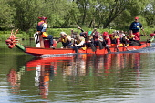 Dragon boat racing on the River Nith Dumfries, Dumfries and Galloway.  Picture Credit: Allan Devlin / Scottish Viewpoint Tel: +44 (0) 131 622 7174   Fax: +44 (0) 131 622 7175 E-Mail : info@scottishvie... Public, NMR traditional,long,boat,asia,paddle,sport,dragon,race,racing,oar,spray,river,water,chinese,community,charity,fundraising,motivation,hospitality,incentive,rotary,club,uk,nith,dumfries,team,building,compa